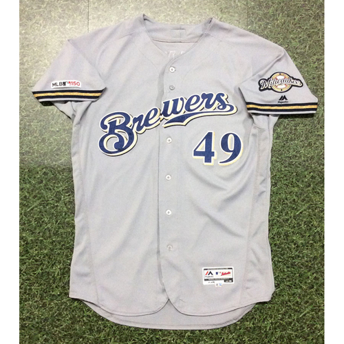 Photo of Andy Haines 2019 Game-Used Road Grey Jersey