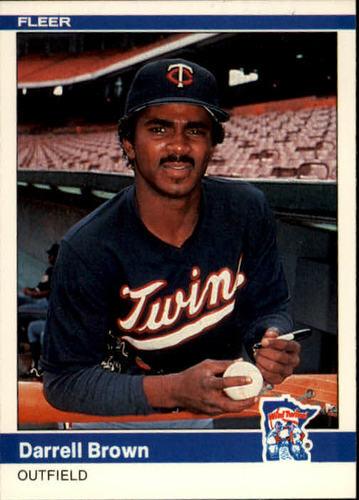 Photo of 1984 Fleer #556 Darrell Brown