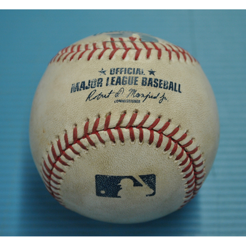 Game-Used Baseball - Pitcher - Ervin Santana, Batter - Cliff Pennington - Groundout to Second Base - Albert Pujols 600 HR Game - 6/3/2017