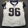 Crucial Catch - Rams Matt Longacre Game Used Jersey (October 7th