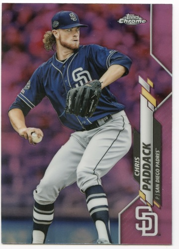 Photo of 2020 Topps Chrome Pink Refractors #39 Chris Paddack