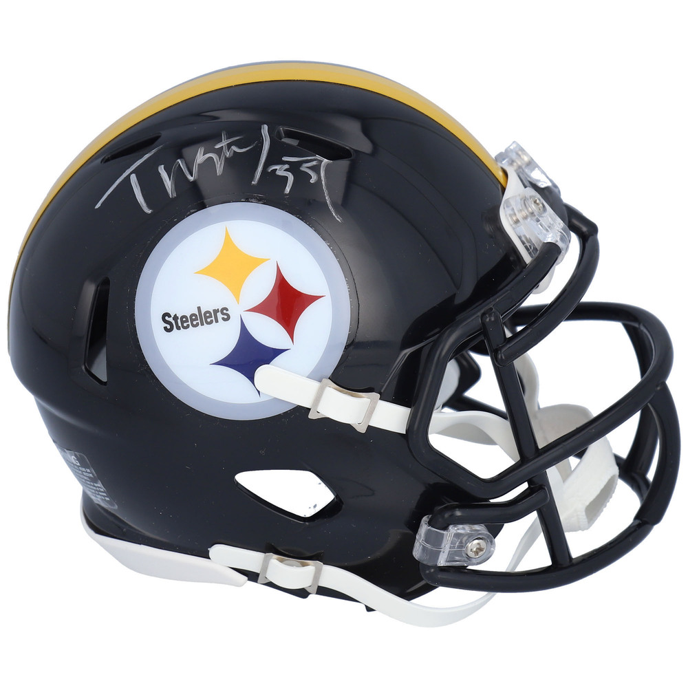 Tristan Jarry Pittsburgh Penguins Autographed Pittsburgh Steelers Mini Helmet - NHL Auctions Exclusive