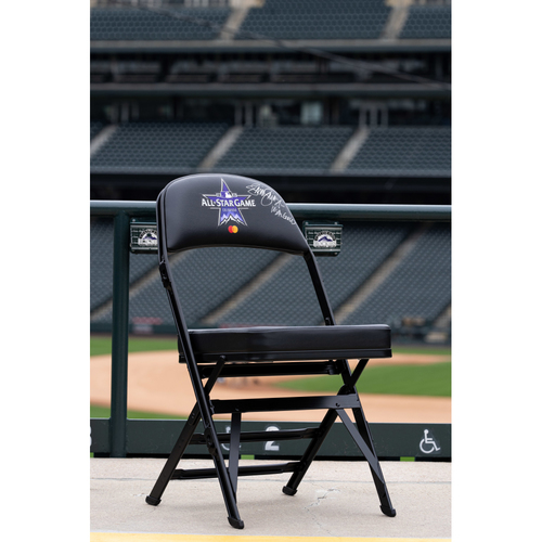 Photo of 2021 Celebrity Softball Game Autographed On Field Chair - Jennie Finch