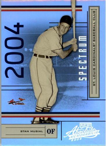 Photo of 2004 Absolute Memorabilia Spectrum Silver #181 Stan Musial