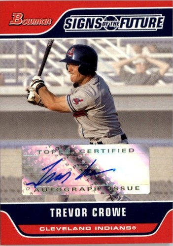 Photo of 2006 Bowman Signs of the Future #TC Trevor Crowe B