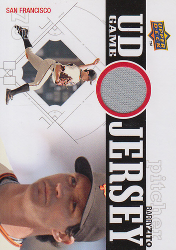 Photo of 2010 Upper Deck UD Game Jersey #BZ Barry Zito