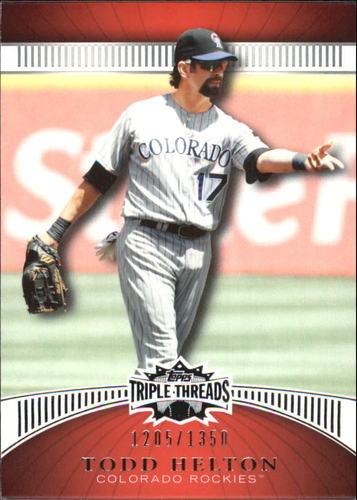Photo of 2010 Topps Triple Threads #5 Todd Helton