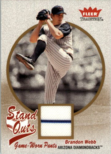 Photo of 2004 Fleer Tradition Stand Outs Game Used #BW Brandon Webb Pants