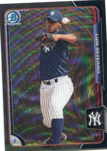 Photo of 2015 Bowman Chrome Prospects Black Wave Asia Refractor Luis Severino