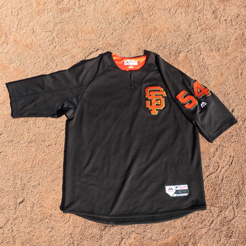 San Francisco Giants - 2017 Game-Used Batting Practice Jersey Worn by #54 Reyes Moronta (Size: XL)