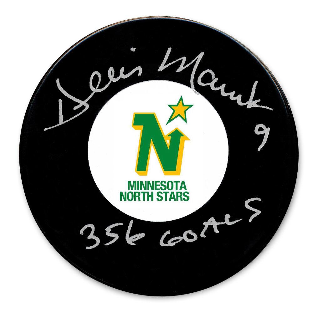 Dennis Maruk Minnesota North Stars 356 Goals Autographed Puck
