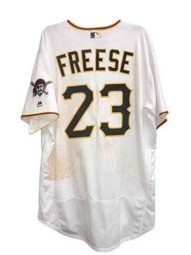 Photo of David Freese Game-Used Jersey - 1 for 3, RBI