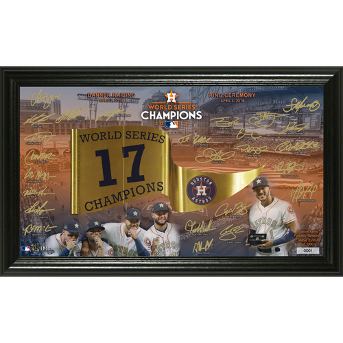 Photo of Serial #1! Houston Astros 2017 Banner Raising and Ring Ceremony Signature Photo