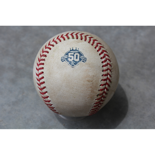 Photo of Game-Used Baseball: John Hicks 63rd Career Hit and 31st Career RBI (DET at KC - 5/6/18)