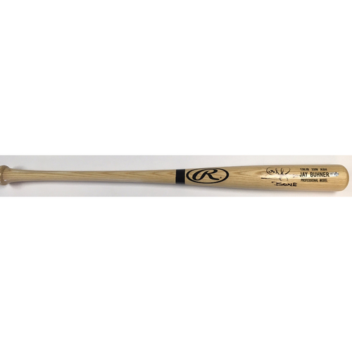 "Photo of Jay Buhner ""Bone"" Autographed Game Model Rawlings Bat"