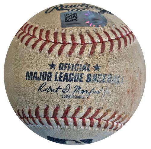 Photo of Game-Used Baseball from Pirates vs. Cardinals on 5/25/18 - Feliz Strikes Out O'Neill