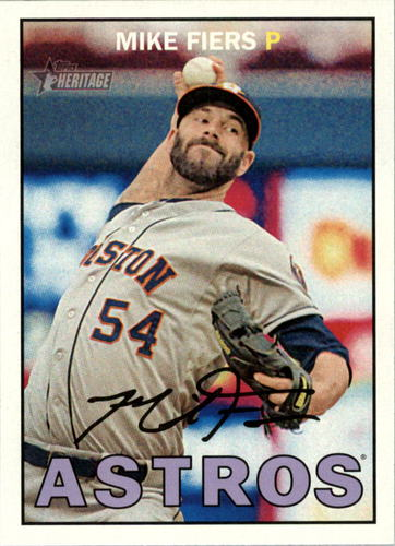 Photo of 2016 Topps Heritage #391 Mike Fiers