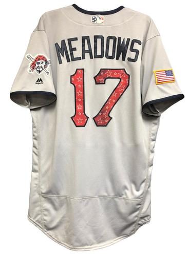Photo of Austin Meadows Game-Used Stars & Stripes Jersey