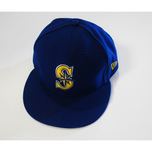 Photo of Seattle Mariners Daniel Vogelbach Team Issued 2017 Blue Cap