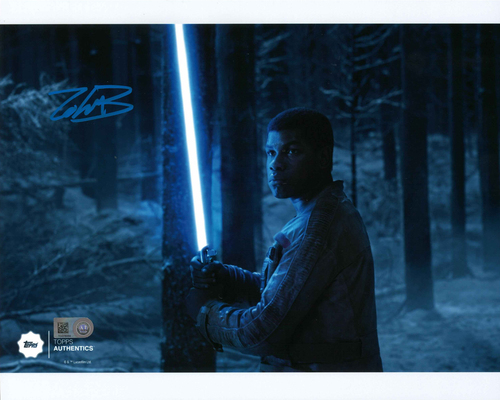 John Boyega as Finn 8x10 Autographed in Blue Ink at the Battle of Starkiller Base Photo