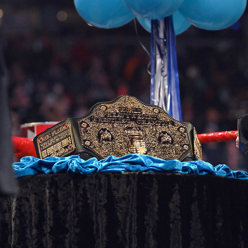 Photo of Ric Flair SIGNED Custom World Heavyweight Championship Title (Used during RAW - 02/25/19)