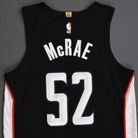 Jordan McRae - Washington Wizards - 2018-19 Season - Game-Worn Black City Edition Jersey