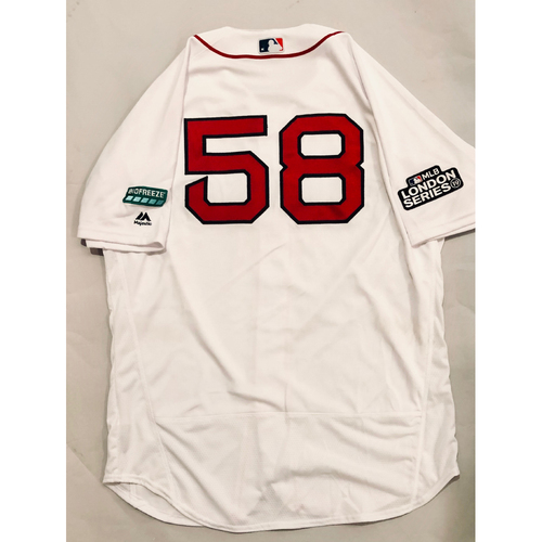 2019 London Series - Game-Used Jersey - Andy Barkett, New York Yankees vs Boston Red Sox - 6/29/19