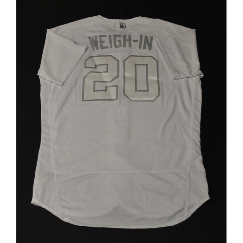"""Photo of Wei-Yin """"WEIGH-IN"""" Chen Miami Marlins Game-Used 2019 Players' Weekend Jersey"""
