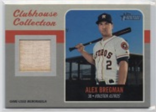 Photo of 2019 Topps Heritage Clubhouse Collection Relics #ECCRABR Alex Bregman