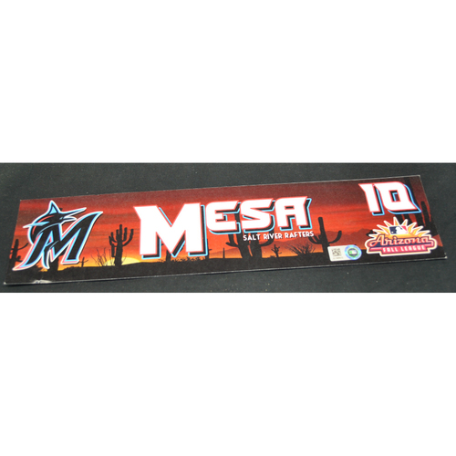 Photo of Arizona Fall League - Game-Used Locker Tag - Victor Mesa (MIA), Jersey Number: 10