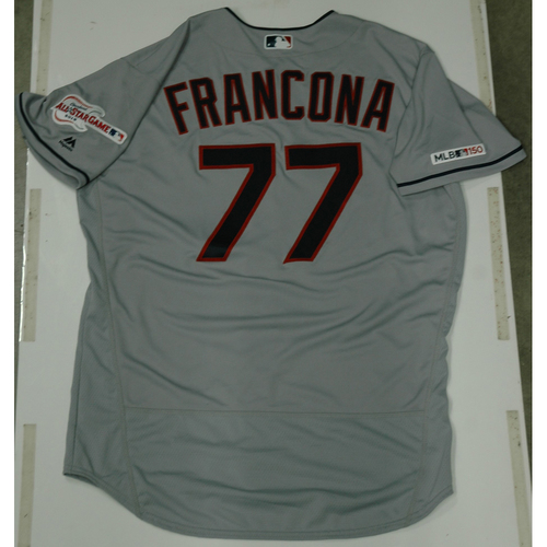 Photo of Terry Francona 2019 Team Issued Road Jersey