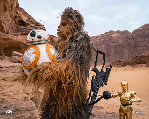 C-3PO, Chewbacca and BB-8