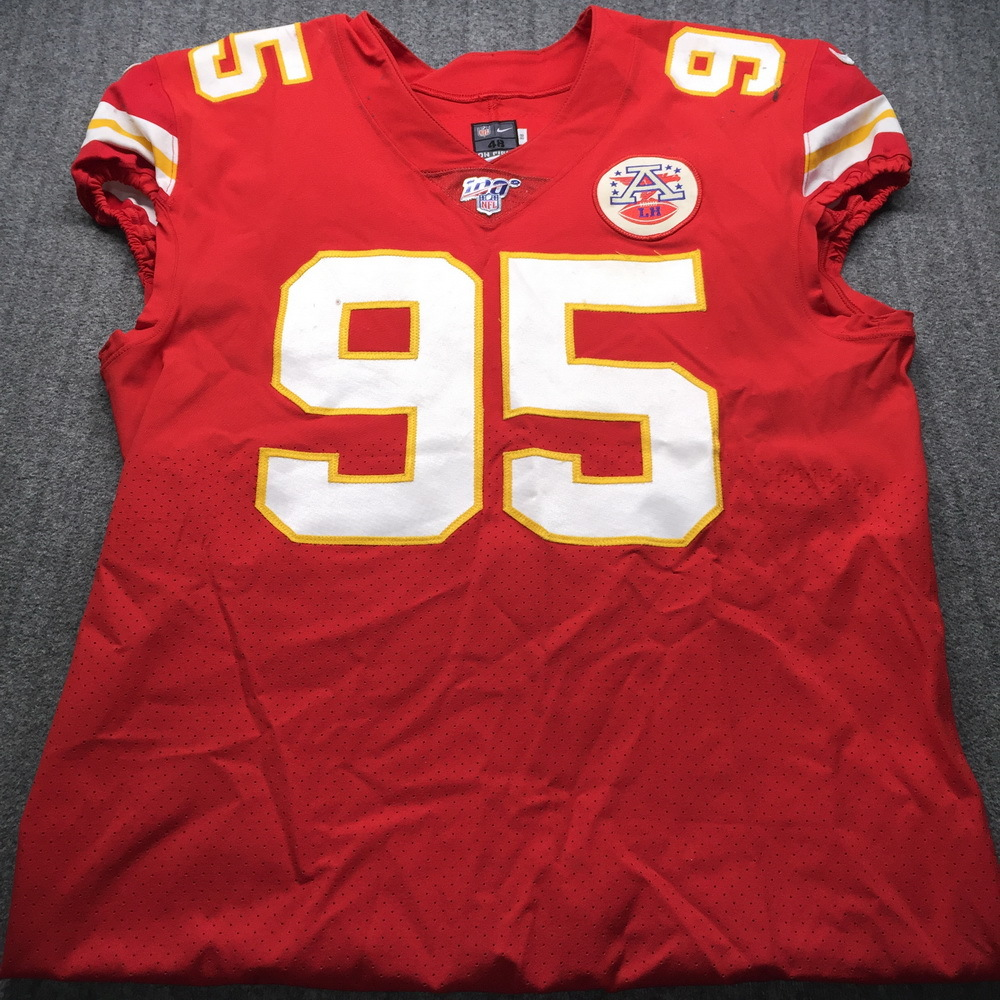 NFL Auction | STS - Chiefs Chris Jones Signed Game Used Jersey ...