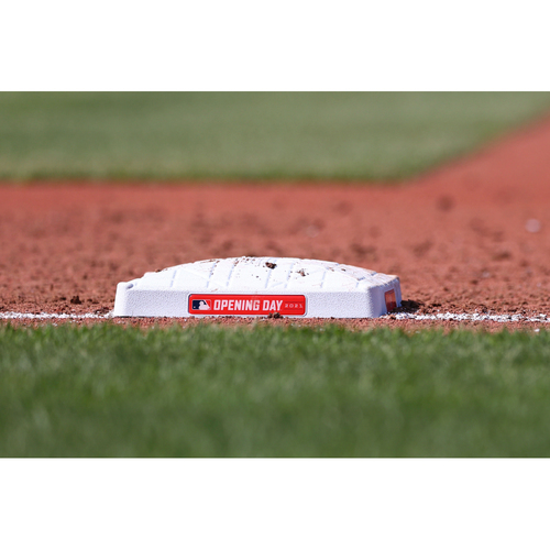 Photo of Game-Used Opening Day Base - Boston Red Sox at Baltimore Orioles (4/8/2021) - 1st Base - Innings 1-3