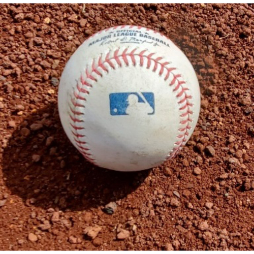 2021 Phillies Game-Used Baseball - Zack Wheeler Complete Game Shutout - Double Play