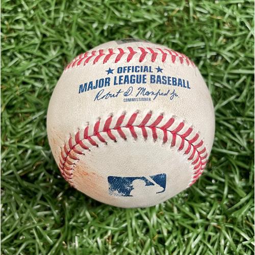 Photo of Game Used Baseball: Randy Arozarena single off Emmanuel Clase - Bottom 9 - July 5, 2021 v CLE