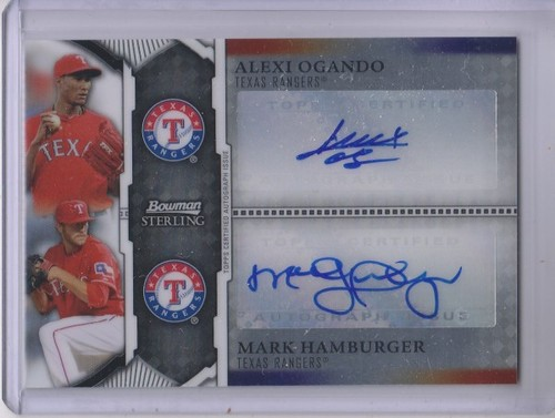 Photo of 2011 Bowman Sterling Dual Autographs #OH Alexi Ogando/Mark Hamburger