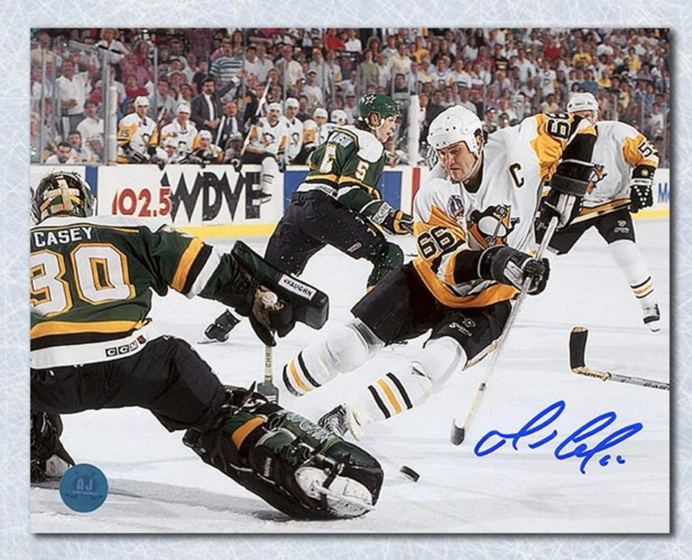 Mario Lemieux Pittsburgh Penguins Autographed Finals Highlight Goal 8x10 Photo