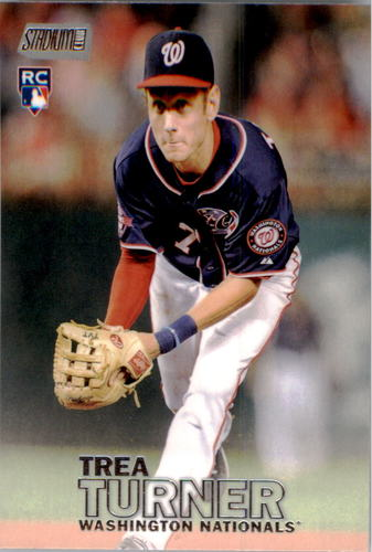 Photo of 2016 Stadium Club #225 Trea Turner Rookie Card -- Nationals post-season