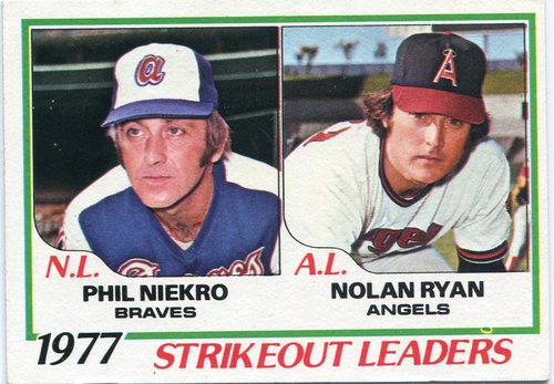 Photo of 1978 Topps #206 Strikeout Leaders /Phil Niekro/Nolan Ryan