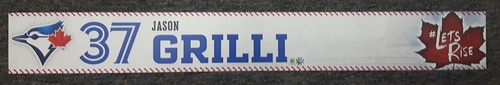 Photo of Authenticated 2017 Game Used Locker Nameplate - #37 Jason Grilli