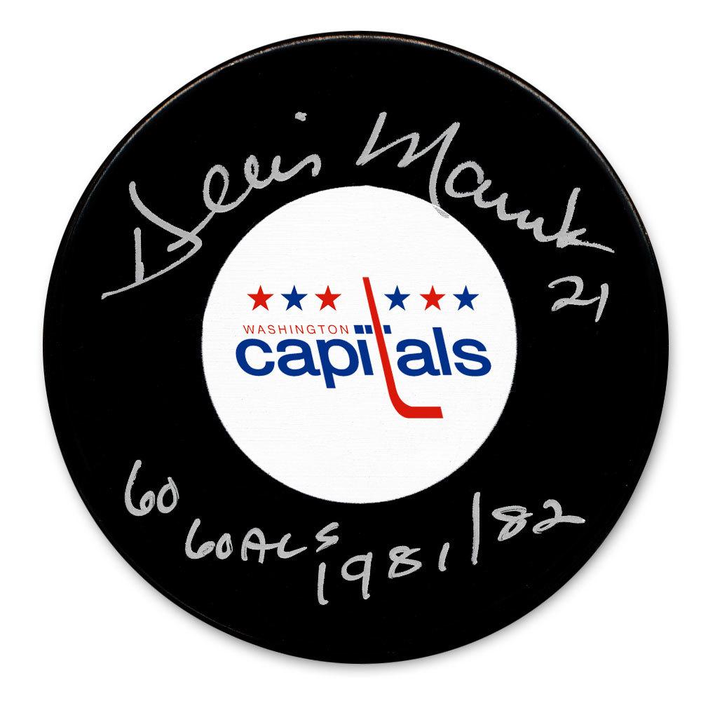 Dennis Maruk Washington Capitals 60 Goals 1981/82 Autographed Puck