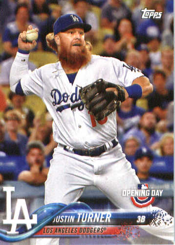 Photo of 2018 Topps Opening Day #166 Justin Turner