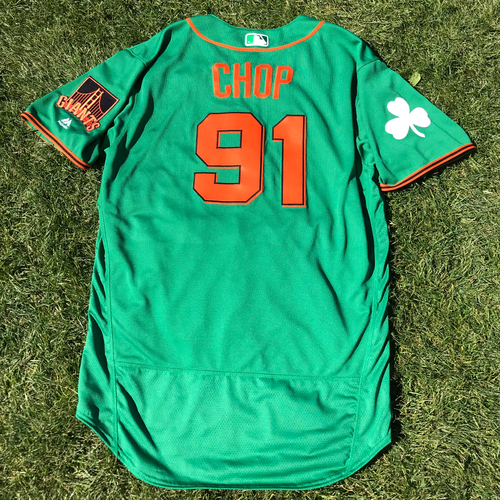 Photo of San Francisco Giants - 2018 St. Patrick's Day - Team Issued Jersey - Chad Chop
