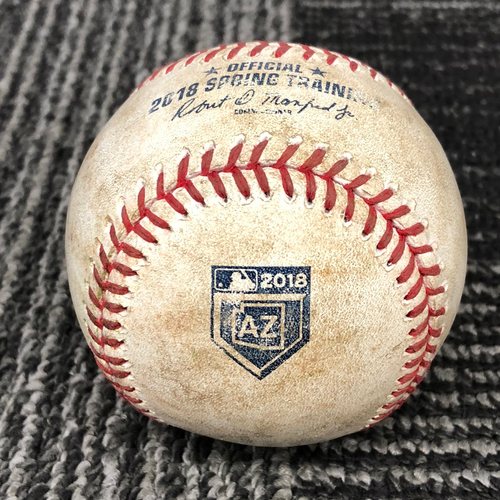 Photo of 2018 San Francisco Giants - Game-Used Baseball - Spring Training Logo