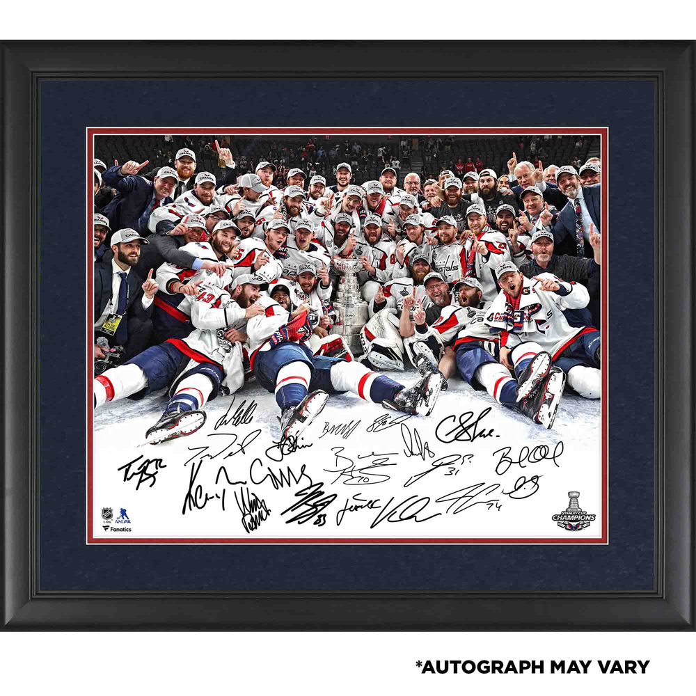 Washington Capitals 2018 Stanley Cup Champions Framed Autographed 16