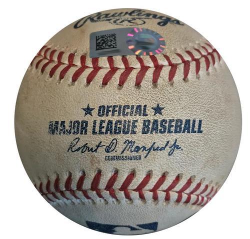 Photo of Game-Used Baseball from Pirates vs. Cardinals on 5/26/18 - Yairo Munoz RBI Single