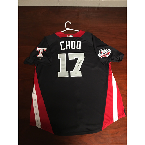 Photo of Shin-Soo Choo 2018 Major League Baseball Workout Day Autographed Jersey