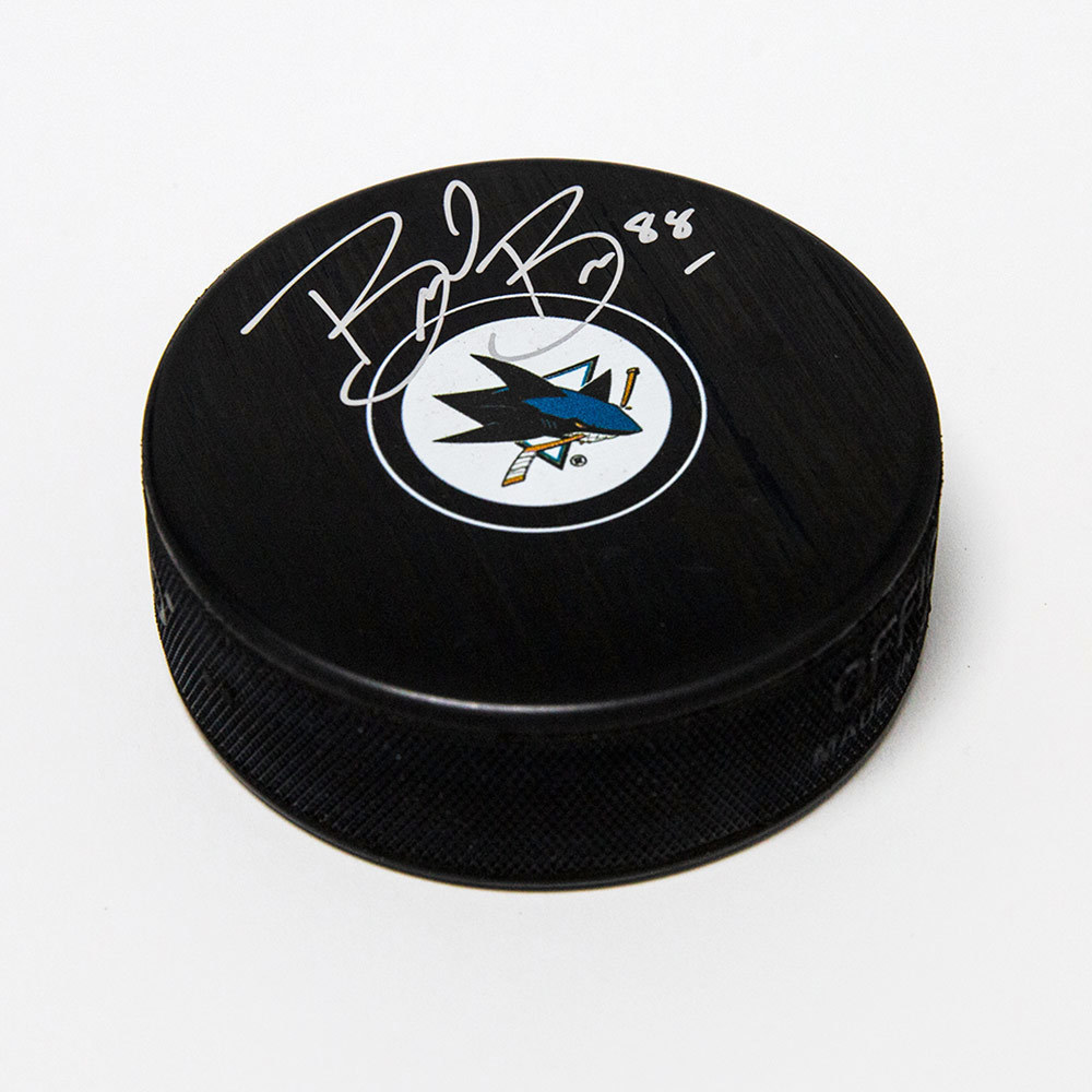 Brent Burns San Jose Sharks Signed Autograph Model Hockey Puck