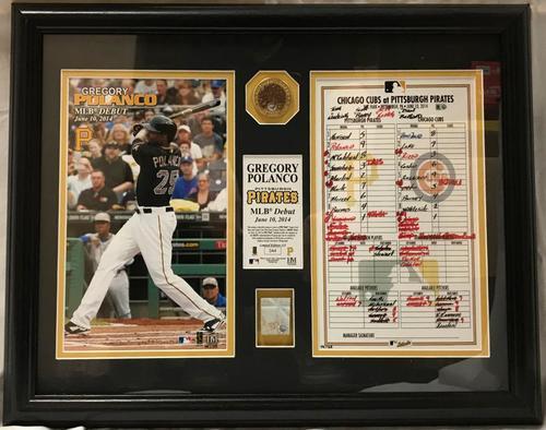 Photo of Gregory Polanco MLB Debut Display